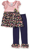 Bonnie Jean Baby Girls 12-24 Months Knit to Floral Chiffon Dress and Leggings Set