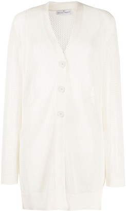 Bruno Manetti Open-Knit Longline Cardigan