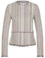 HUGO BOSS Kolara Cotton Multi-Stripe Fringed Blazer 4 Patterned