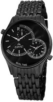 August Steiner Men's Quartz Dual Time Bracelet Watch