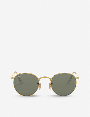 Ray-Ban RB3447 metal crystal round-frame sunglasses