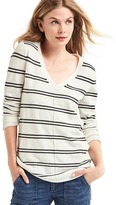 Gap Stripe deep V-neck sweater