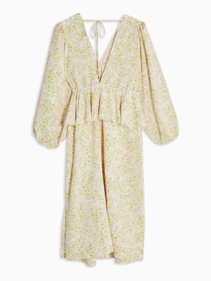 Topshop Maternity Riviera Ditsy Midi Dress -Ivory