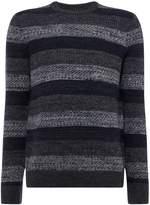 Linea Columbia Stripe Textured Crew