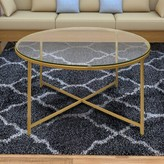 Dryer Round Metal Coffee Table with Tray Top Mercer41