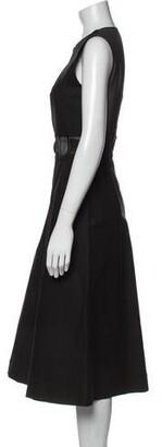 Ter Et Bantine Crew Neck Midi Length Dress w/ Tags Black