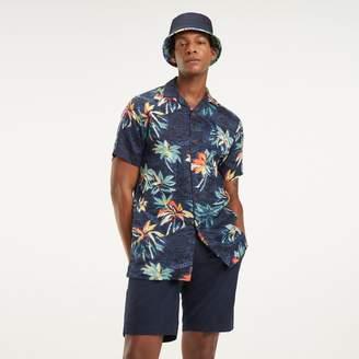 Tommy Hilfiger Regular Fit Linen Short-Sleeve Shirt