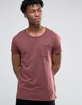 Selected Oil Wash Over Sized Pocket T-Shirt