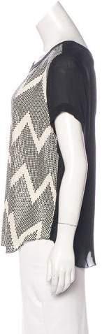 L'Agence Silk Embellished Top