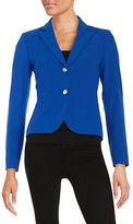 Calvin Klein Two-Button Cropped Blazer
