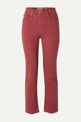 RE/DONE Stove Pipe Comfort Stretch Cropped High-rise Straight-leg Jeans - Brick