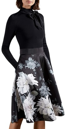 Ted Baker Jordynn Clove Full Skirted Dress (Black) Women's Clothing