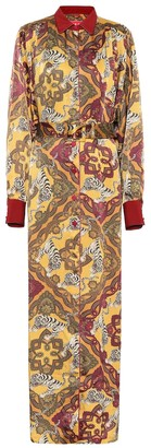 F.R.S For Restless Sleepers Febo printed satin-cloque shirt dress