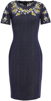 MICHAEL Michael Kors Embroidered Knitted Mini Dress