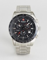 Swiss Military Crusador Watch With Stainless Steel Bracelet