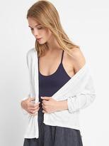 Gap Linen batwing open-front cardigan