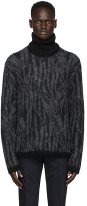 Tiger of Sweden SSENSE Exclusive Grey Mohair Zebra Sweater