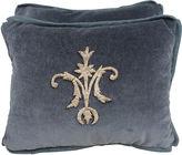 One Kings Lane Vintage Pair of Velvet Appliqued Pillows