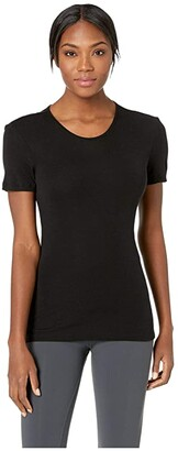 Icebreaker 175 Everyday Merino Baselayer Short Sleeve Crewe (Black) Women's Clothing