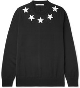 Givenchy Star-appliquéd Cotton Sweater