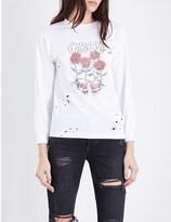 Obey Grim Roses cotton-jersey sweatshirt