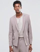 Asos Slim Suit Jacket In Pink