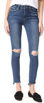 Paige Hoxton Ankle Peg Jeans with Uneven Hem