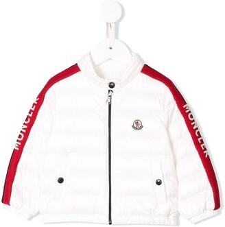 Moncler Enfant Logo Sleeve Padded Coat