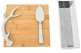 Arthur Court Antler Bamboo Cheese Board Set