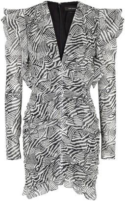 Isabel Marant Etya printed cotton-blend mini dress