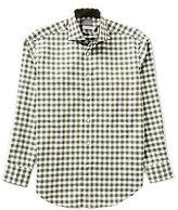 Thomas Dean Long-Sleeve Check Woven Shirt