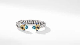 David Yurman Renaissance Bracelet With Blue Topaz, Iolite, And 14K