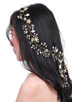 Missgrace Missgace Bridal Crystal Wedding Headband -Long Bridal Hair Vine