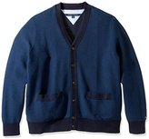 Tommy Hilfiger Men's Big and Tall Tobin Tipped Cardigan