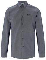 Hugo Boss Boss Green C-buster Fine Check Regular Fit Shirt, Navy