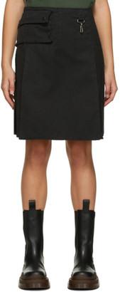 Reese Cooper SSENSE Exclusive Black Cargo Miniskirt