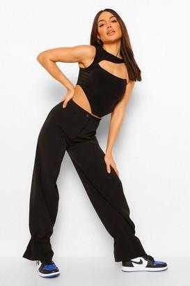 boohoo Ruched Hem Woven Slim Fit Trouser