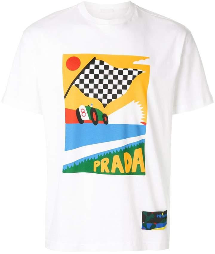 Prada flag-print T-shirt