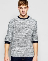 Bellfield Knitted Sweater with Stripe Weave