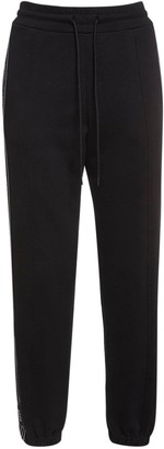 MSGM Logo Band Cotton Sweatpants