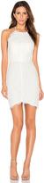 Bobi BLACK Mixed Chiffon Lace Bodycon Dress