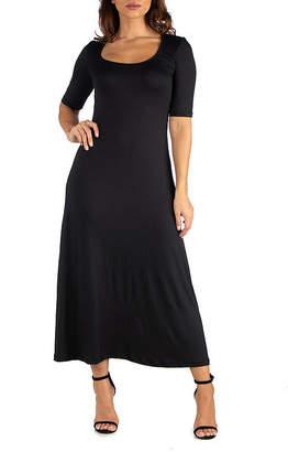 24/7 Comfort Apparel 24/7 Comfort Maxi Dress-Maternity