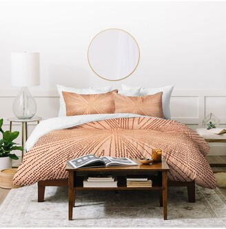 Deny Designs Iveta Abolina Copper Leaf Duvet Cover & Sham Set