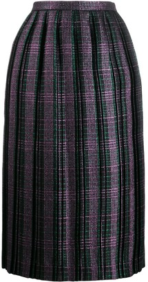 Marco De Vincenzo checked pleated skirt