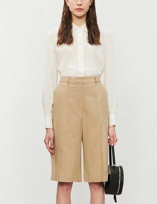 Topshop Button-down silk shirt