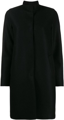 Harris Wharf London Concealed Button Coat