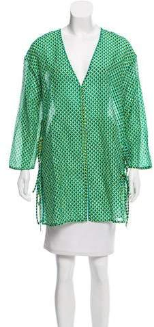 Diane von Furstenberg Long Sleeve Printed Top