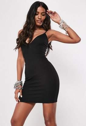 Missguided Black Cami Bodycon Mini Dress
