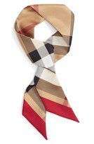 Burberry Women's Exploded Check Mulberry Silk Shortie Scarf