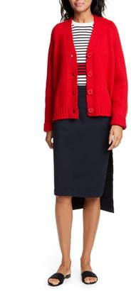 N°21 N21 N?21 Side Slit High/Low Denim Skirt